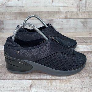 Bzees Majestic Front Zip Fabric Comfort Shoes 8.5